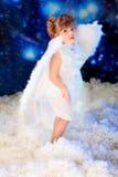 Pose de l'ange Photographie stock