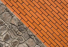 Pose de la blocaille et de la brique Image libre de droits