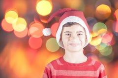 Pose de Litlle Santa Photo libre de droits