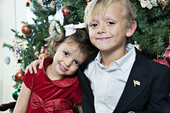 Pose de Noël photographie stock libre de droits