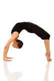 Pose de pont de yoga de femme Photos libres de droits