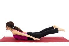 Pose de sauterelle dans le yoga Images libres de droits
