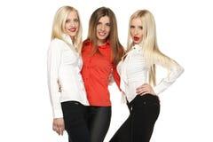 Pose de trois filles Photo stock