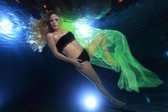 Underwatermodel imagem de stock