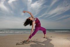 Pose de yoga photo stock