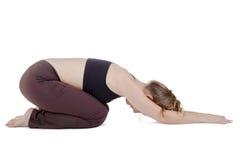 Pose de yoga photos stock