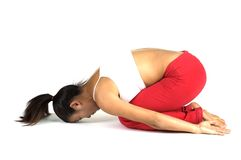 Pose de yoga Images libres de droits