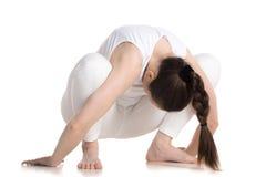 Pose de yoga d'accroupissement Photographie stock