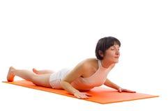 Pose de yoga de Bhujangasana Photos libres de droits
