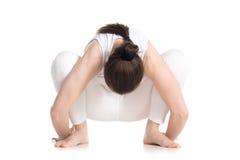 Pose de yoga de guirlande Photo stock
