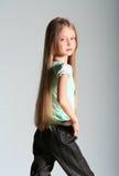 Pose del modello della ragazza Fotografie Stock Libere da Diritti