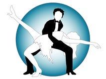 Pose des danseurs Photo stock