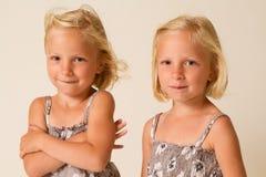 Pose des jumeaux Photographie stock