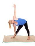 Pose di rappresentazione dell'istruttore di yoga Immagine Stock Libera da Diritti
