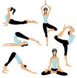 Pose di yoga royalty illustrazione gratis