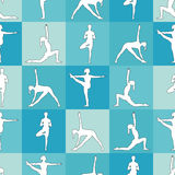 Pose di yoga come fondo senza cuciture ENV, JPG Immagine Stock Libera da Diritti