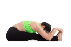 Pose dianteira assentada da ioga da curvatura Imagem de Stock Royalty Free
