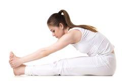 Pose dianteira assentada da ioga da curvatura Fotografia de Stock