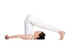Pose do arado da ioga Fotos de Stock Royalty Free