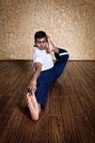 Pose do archer do dhanurasana do akarna da ioga Fotografia de Stock Royalty Free