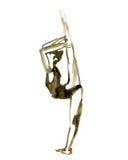 Pose do bailado da aquarela Bailarina na dança Imagem de Stock Royalty Free