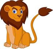Pose do leão dos desenhos animados ilustração royalty free
