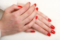 Pose do Manicure Imagem de Stock