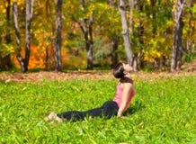 Pose do shvanasana do mukha do urdhva da ioga imagem de stock