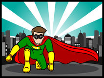 Pose do super-herói Foto de Stock Royalty Free
