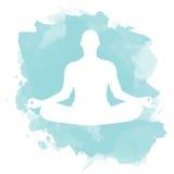 Pose dos lótus da meditação Foto de Stock