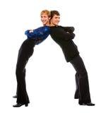 Pose drôle de deux danseurs mâles de latino photographie stock