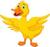 Pose drôle de bande dessinée de canard Images libres de droits