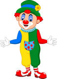 Pose drôle de clown de bande dessinée illustration stock