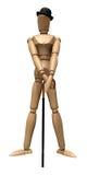 Pose du mannequin en bois Photos libres de droits