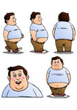 Pose of fat boy. Illustration of a pose of fat boy on isolated white background Stock Image