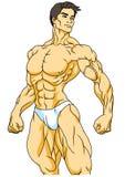 Pose forte de bodybuilder Image libre de droits