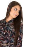 Pose hispanique de brune modèle femelle magnifique Photo libre de droits