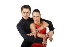 Pose latine de danseurs Photographie stock