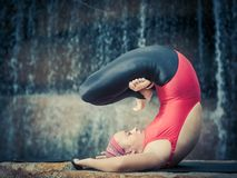 Pose with legs in Padmasana Stock Photography