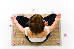 Pose of lotus Stock Photo