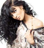 Pose magnifique de brunette Image libre de droits