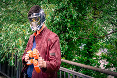 Pose maschii del cosplayer alla convenzione di cosplay di Yorkshire Fotografia Stock Libera da Diritti