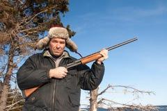 Pose del cacciatore Fotografia Stock