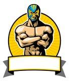 Pose mexicaine de lutteur illustration libre de droits