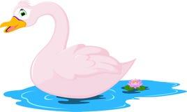Pose mignonne de bande dessinée d'oie illustration libre de droits