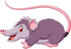 Pose mignonne de bande dessinée d'opossum Photo libre de droits