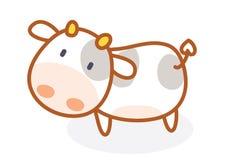 Pose mignonne de bande dessinée de vache Image stock
