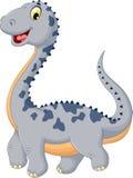Pose mignonne de bande dessinée de dinosaure Photo stock