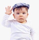 Pose mignonne de petit garçon Images libres de droits