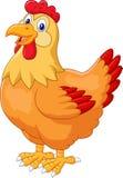 Pose mignonne de poule de poulet illustration stock
